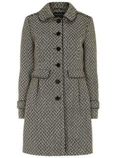dorothy perkins - fit & flare tweed coat