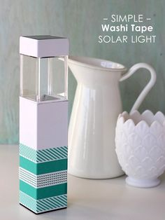 Decorate a solar light with washi tape