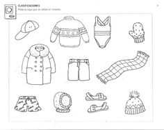 Crafts,Actvities and Worksheets for Preschool,Toddler and Kindergarten.Free printables and activity pages for free.Lots of worksheets and coloring pages. Free Kindergarten Worksheets, Worksheets For Kids, Winter Activities, Preschool Activities, Preschool Winter, Preschool Books, Clothes Worksheet, Fur Clothing, Winter Project