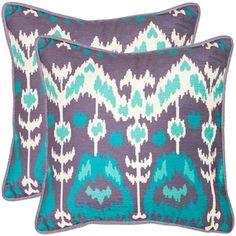 Manhattan 20-inch Lavander/ Aqua Blue Decorative Pillows (Set of 2) | Overstock.com Shopping - Great Deals on Safavieh Throw Pillows