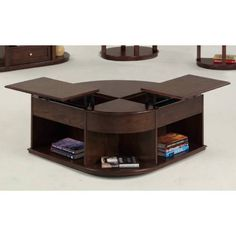 Double Lift Top Coffee Table Castered Tail In