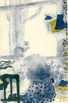 Edouard Vuillard (1868-1940) La Couturière (lithograph in colours, 1894)