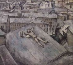 Viktor Popkov, Sunday (in Moscow), 1967, Oil on Canvas, State Tretiakov Gallery in Moscow Виктор Попков: Воскресенье
