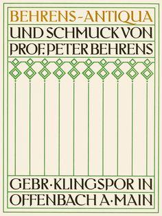 Behrens Antiqua (1907-09), designed for AEG