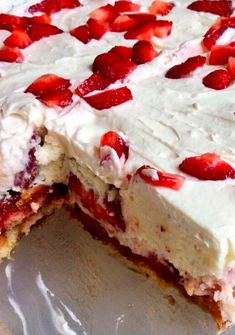 No-Bake Strawberry Shortcake Lasagna - Recipe, Desserts, Quick, Easy, Scrumptious, Lady Fingers