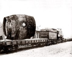 Huge Keg Of Stroh's Beer On A Train