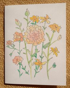Mixed Set of Floral Stationary Acrylic by ArtworkbySaraSearle For sale on Etsy