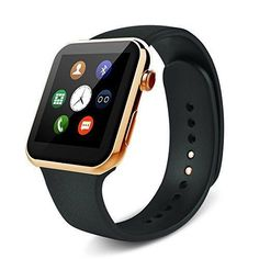 Smart Watch - Heart Rate Monitoring and Fitness tracking Bluetooth Smartwatch, Wireless Sports watch for iOS - iPhone & Android - Samsung, Galaxy, Nexus, LG, Sony smartphones (Gold)   Specifications: CPU: MTK25021A Display Screen: 1.54 in #goldrate