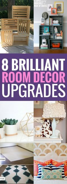 Best Ways To Upgrade Your Home Decor - Really great if you're on a budget and you want to add a few things without breaking the bank. The diy home decor projects are modern and stylish, also cheap!