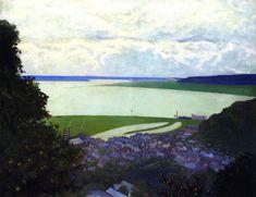 """ View of Honfleur, Morning Felix Vallotton - 1910 """