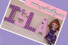 pink and Purple Wall Letters