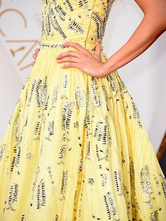 Actress Alicia Vikander fashion detail attends the 88th Annual Academy Awards at Hollywood Highland Center on February 28 2016 in Hollywood California