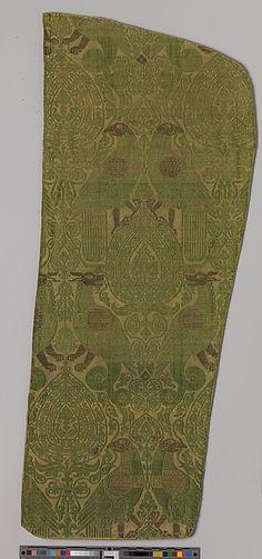 Textile with Brocade Date: 13th century Culture: Italian Medium: Silk, gold thread