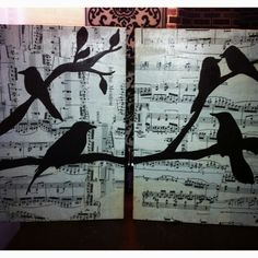 This is made from a board under Craft Ideas.  I used sheet music instead of newspaper.