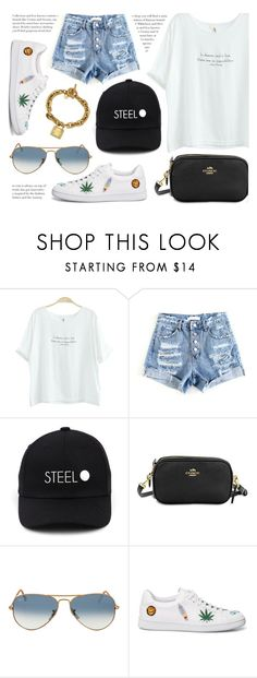 """""""Friday"""" by monmondefou ❤ liked on Polyvore featuring Baimomo, Ray-Ban and yesstyle"""