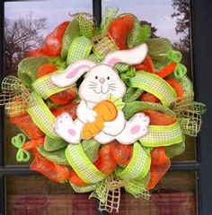 Easter Bunny Mesh Wreath - Bing Images