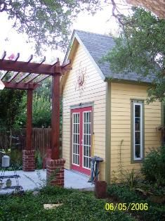 Garden shed and pergola
