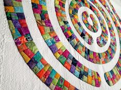 modern quilts with circles - Google Search
