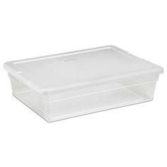 Sterilite 28-Quart Clear Storage Box / 16558010 1655,    #Sterilite Totes