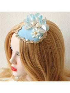 Blue Flower Shell Mini Top Hat
