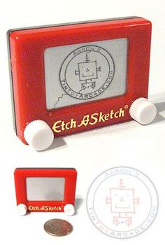 Possible Wedding Favor?...   Buy Etch A Sketch Mini Toy Story Classic at TinToyArcade.com