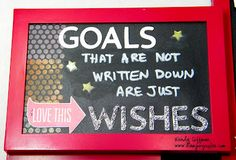 Stamping Rules!: Celebrate National Stamping Month Blog Hop! Chalkboard Weekly Goals CTMH Altered Home Decor