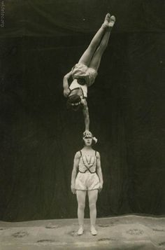 Friday 13th, 1927: Ivy and Fuschia's circus act had been perfected after many years, tears and chiropractor's visits.
