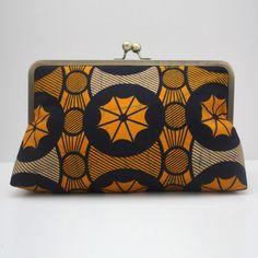 2a51b06021 Orange and blue clutch purse, Colourful clutch purse, Ankara print handbag,    Urbanknit