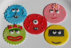 Items similar to Monster Characters Fondant Cupcake Toppers on Etsy Fondant Cookies, Fondant Cupcake Toppers, Bridal Shower Cakes, Baby Shower Cakes, Arm And Hammer Baking Soda, Monster Cupcakes, Felt Headband, Frosting Tips, Monster Characters