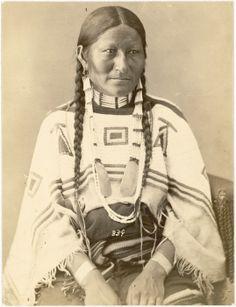 wife of Chief Sinte Gleska or Spotted Tail or Sinte-Galeshka or Te-Gi-Le-Ska or Tshin-Tah-Ge-Las-Kah, (Brulé Sioux) 1872