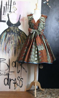 African Print Dress available @ MaylanasCloset on Etsy, $150.00