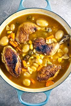 Lemon Chicken with Olives and Potatoes | @Lauren Davison Keating | Healthy-Delicious.com