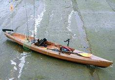 Kit built wooden kayak for fishing.  Love it.