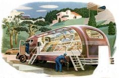 """Visions of the future - 1940's"" - Groceries on Wheels"