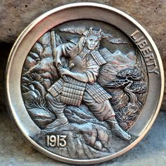"CHRIS ""DECHRISTO"" DEFLORENTIS HOBO NICKEL - THE SAMURAI - 1913 BUFFALO NICKEL"
