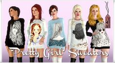 Pretty Girl Sweaters by Annett85 - Sims 3 Downloads CC Caboodle