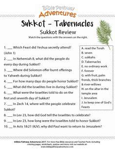 Sukkot review worksheet | Free download.