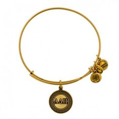 Alpha Delta Pi Charm Bangle in Russian Gold