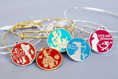 "Guests Asked to Help Select the New ""Words Are Powerful"" Alex and Ani bangles Disney Souvenirs, Disney Parks, Disney Bound, Alex And Ani Disney, Alex And Ani Bangles, Estilo Disney, Disney Jewelry, Disney Rings, Disney Outfits"
