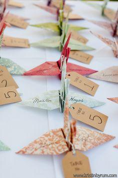 折り紙『ツル』♡ <結婚式エスコートカード・席札>個性的・オリエンタルなものまとめ一覧♪