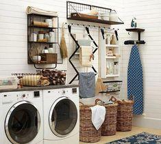 21 Laundry Room Makeover Ideas - Captain Decor - Laundry room design - Home Decor Room Makeover, Decor, Laundry Room Decor, Diy Storage, Room Remodeling, Room Design, Home Decor, Room Storage Diy, Diy On A Budget