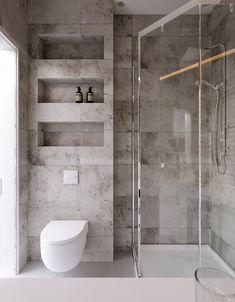 Architecture bathroom - Project Kiev, Lesi Ukrainki Ave , design of apartment, modern style, photo Bathroom Design Luxury, Modern Bathroom Design, Small Bathroom Interior, Bad Inspiration, Bathroom Inspiration, Shower Cubicles, Budget Bathroom, Bathroom Ideas, Organized Bathroom