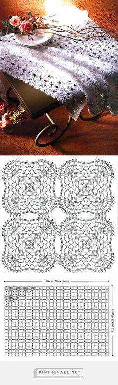 tejidos artigianali en crochet: mensola rettangolare tessuta en crochet ... - una foto immagini raggruppate - Pin Them All