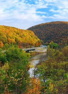 Pocono Mountains, Pennsylvania. I love long drives to see the fall colors, so Rick took me on a really long one while we were in Philadelphia.