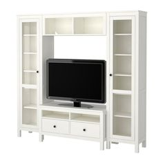 For the new dining room.no tv just the side bookshelves HEMNES TV storage combination IKEA Ikea Living Room, Living Room Storage, Living Room Furniture, Dining Room, Hemnes Tv Bank, Liatorp, Coffee Table Inspiration, Family Room Walls, Dorm Room Designs