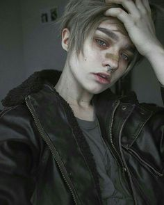 the perfect guy doesn't exis- Aesthetic People, Aesthetic Boy, Gore Aesthetic, Mode Inspiration, Character Inspiration, Pretty People, Beautiful People, Septum Piercings, Cute Emo