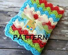 Crochet Baby Blanket Pattern - Baby Blanket Pattern - Crochet Pattern - Crochet Baby Blanket - Stroller/Travel Baby Blanket Pattern