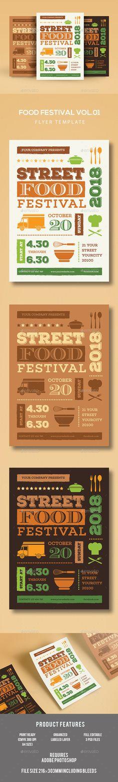 Food Festival Flyer Template PSD, AI Illustrator. Download here: http://graphicriver.net/item/food-festival-flyer/16892280?ref=ksioks