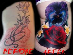 Artist Marie Melou Tattooist Cover up before and after https://www.facebook.com/marie.melou.tattoo?fref=ts&ref=br_tf