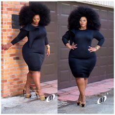 Nakitende Esther Thick Girl Fashion, Plus Size Fashion For Women, Black Women Fashion, Curvy Fashion, Curvy Outfits, Plus Size Outfits, Fashion Outfits, Plus Sise, Afro